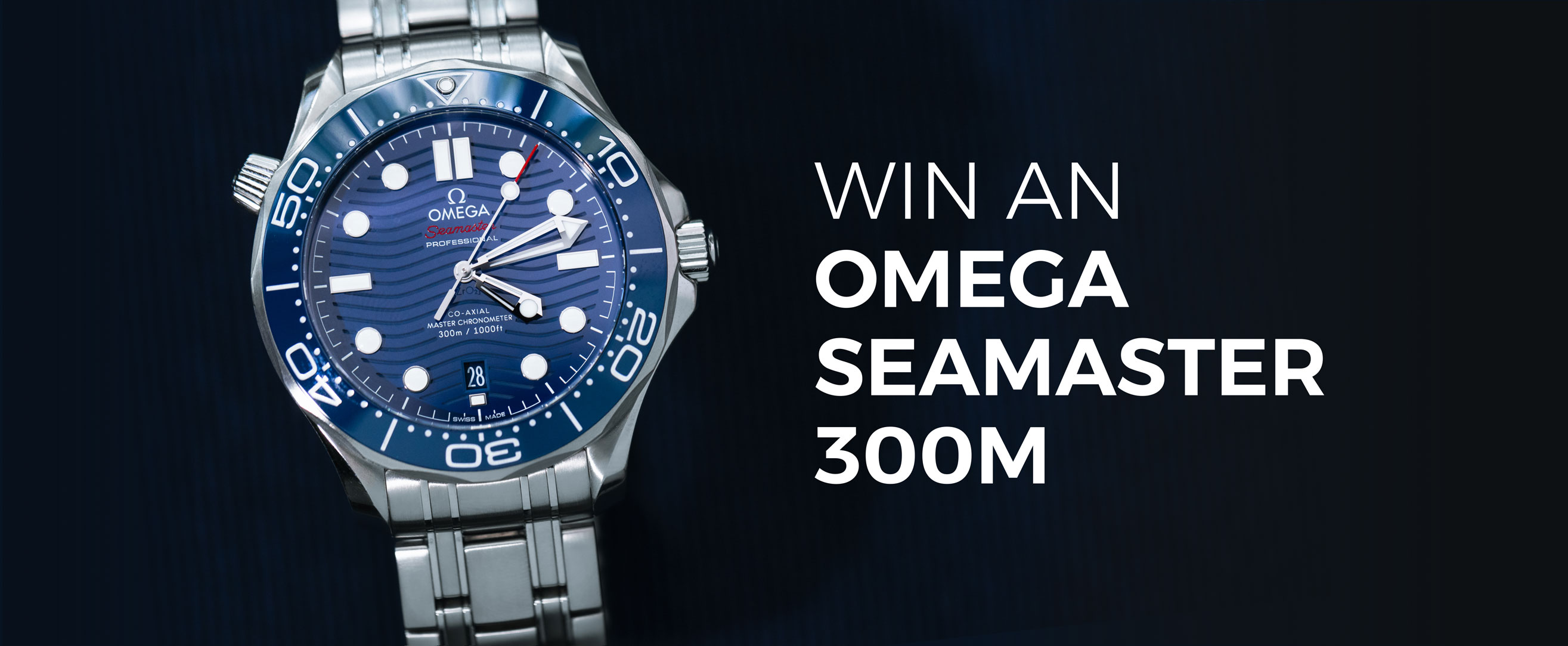 Enter Now for Your Chance to Win an OMEGA Seamaster 300M